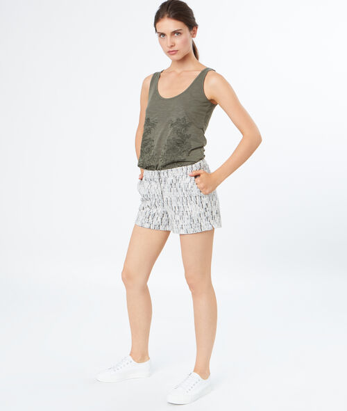 Embroidered tank-top