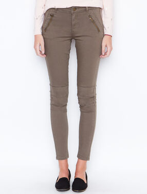 Pantalon skinny kaki.