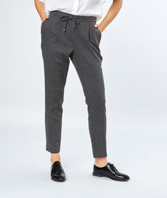 7/8 pants grey.