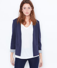 Quilted blazer navy.