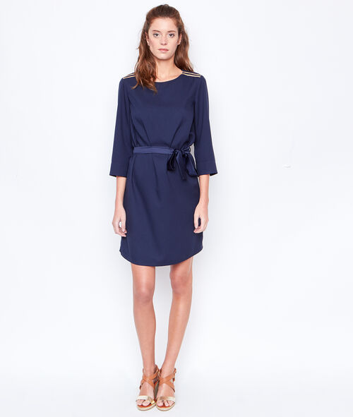 Belted 3/4 sleeves dress