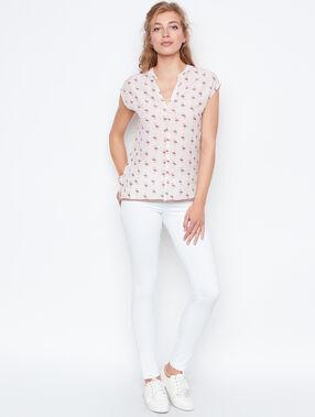 Printed shirt white.