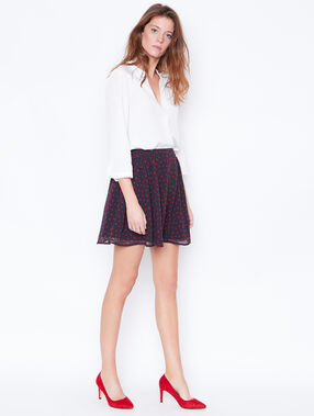 Heart print skirt navy.