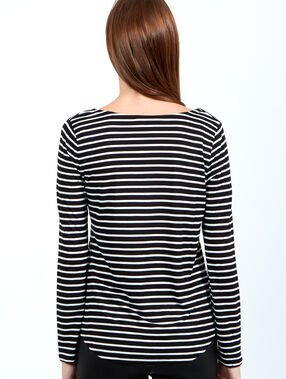 Striped top noir.
