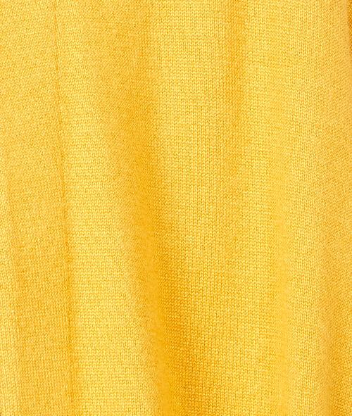 Gilet long tricot uni