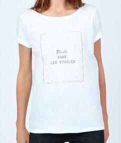 T-shirt message blanc.