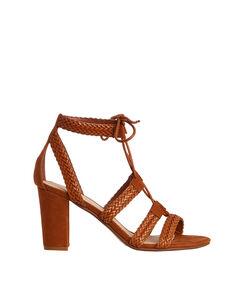 Sandales tressées camel.