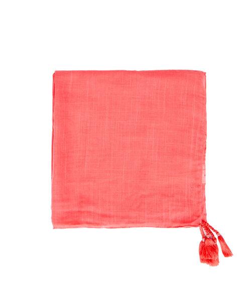 Plain scarf with little pompoms