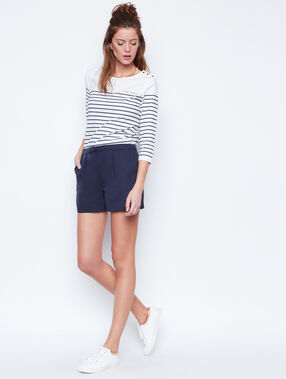 Flowing short navy.