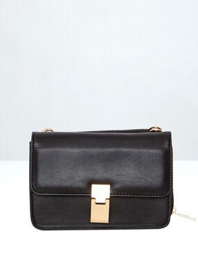 Clutch bag with independent wallet black.