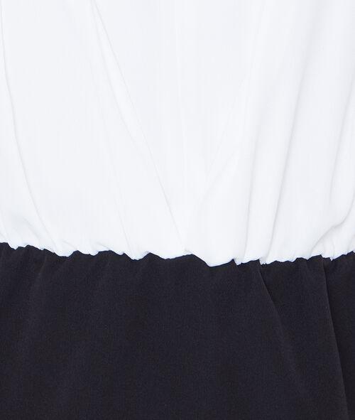 Robe ajustée bicolore