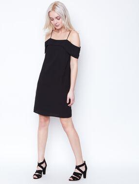 Cold shoulder dress black.
