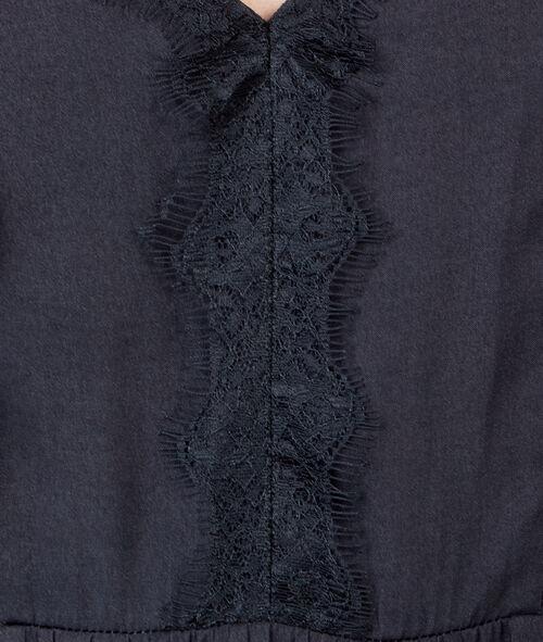 Robe fluide avec dentelle