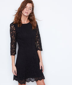 Lace dress black.