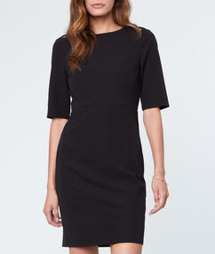 Formal dress black.