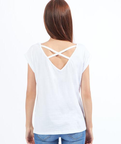 T-shirt imprimé croisé dos