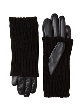Two-material gloves black.