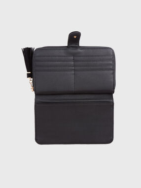 Two-material wallet black.