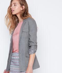 Linen jacket khaki.