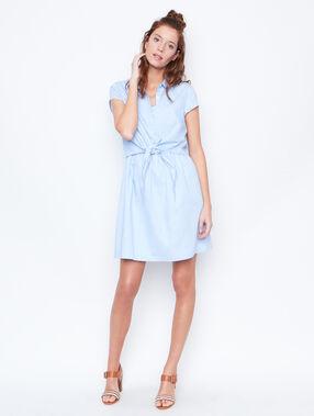 Kleid blau.
