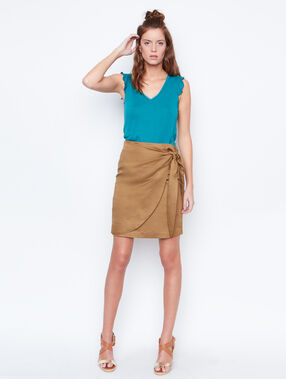 Linen skirt brown.