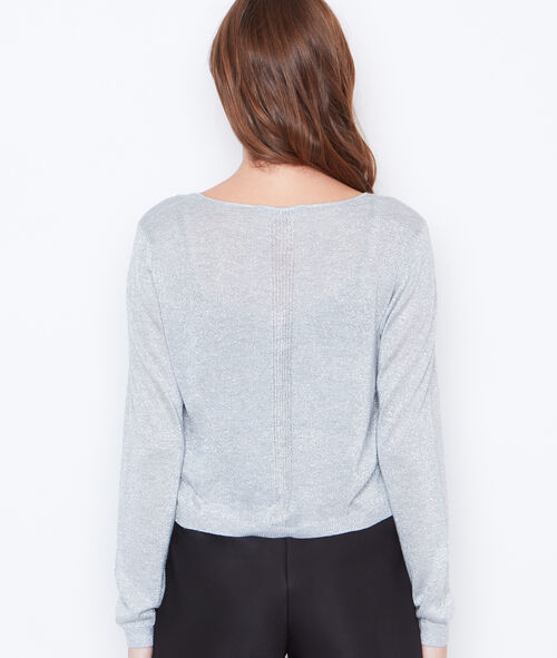 Knitted bolero in lurex