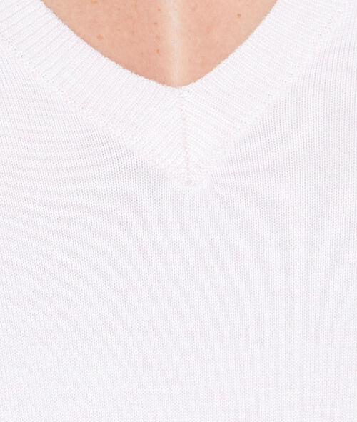 V-neck fine sweater
