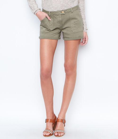 Short poches plissées