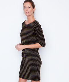 3/4 sleeve dress black.