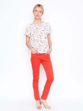 Slim pants coral.