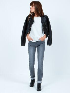 Straight jeans grau.