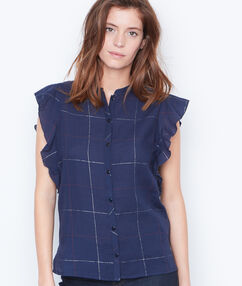 Shirt blue.