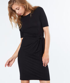 Tie waisted dress black.