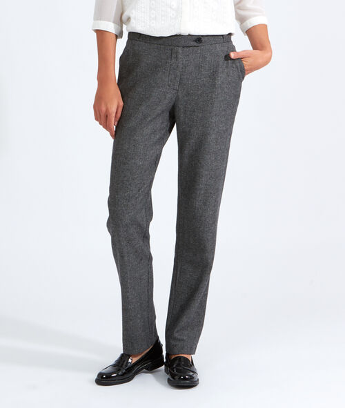 Pantalon tweed boyfriend