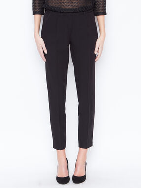 Croped pants black.