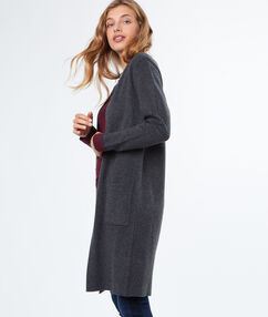 Long cardigan grey.