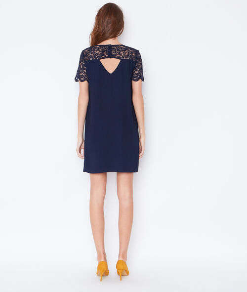 Lace detail dress with cut out back