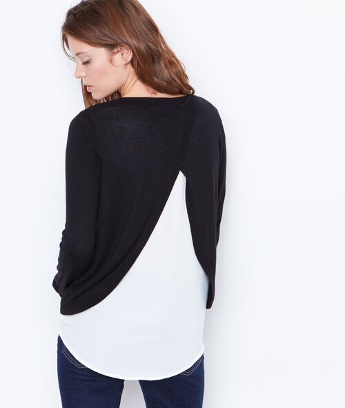 2 in 1 fine knit sweater
