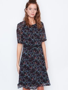 Flowers dress black.