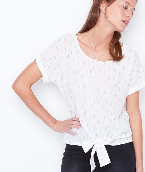 T-shirt manches courtes noué