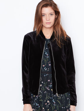 Velvet bomber jacket black.
