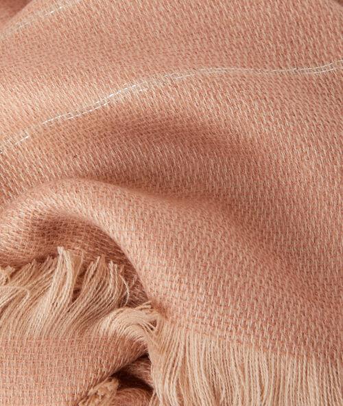 Foulard avec liserés en fibres métalisées