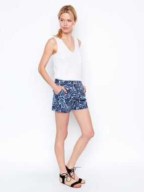 Short marineblau.
