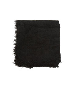 Foulard épais noir.
