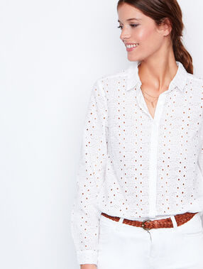 Long sleeves shirt white.