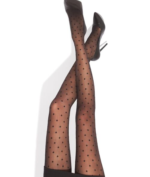 Collants plumetis 15D