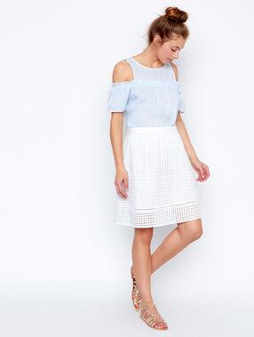 Long skirt white.