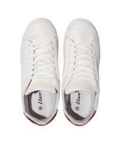 Sneakers patch métallisé blanc.