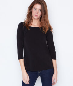 Top with lace details black.