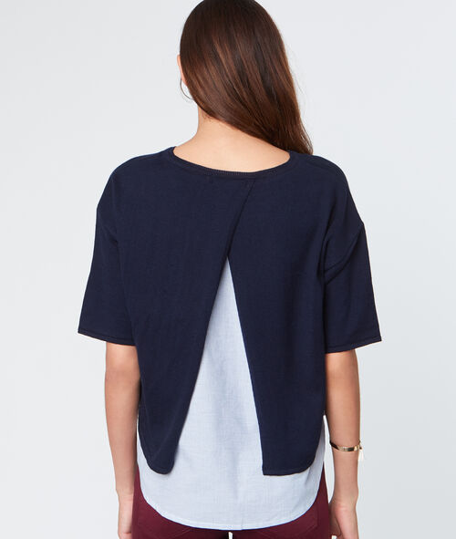 Short sleeves sweater
